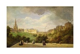 View of Edinburgh, the Walter Scott Monument Giclee Print by Pierre Justin Ouvrie