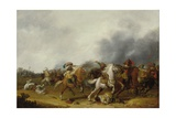 A Cavalry Skirmish, 1634 Giclee Print by Palamedes Palamedesz