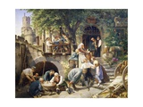 Rhine Tavern, Painting Giclee Print by Adolf Schrodter