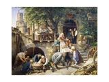Rhine Tavern, Painting Giclee Print by Adolf Schrodter