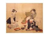 Three Drunken Women Giclee Print by Isoda Koryusai