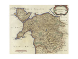 Map of North Wales Giclee Print by Robert Morden