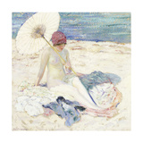 On the Beach, 1913 Giclee Print by Frederick Carl Frieseke