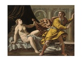 Joseph and Potiphar's Wife Giclee Print by Marcantonio Bassetti