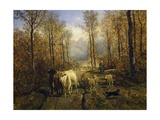 Returning from Pasture, 1860 Giclee Print by Constant Troyon