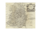 Map of Shropshire Giclee Print by Robert Morden