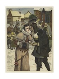 New Year's Day in Old New York Giclee Print by George Henry Boughton
