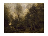 Wood Gatherer Giclee Print by Jean-Baptiste-Camille Corot