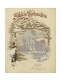 German Christmas Card Giclee Print