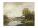 Summer at Hemingford Grey Giclee Print by William Kay Blacklock