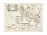 Map of the Roman Empire, C.1675-76 Giclee Print by Nicolas Sanson D'abbeville