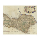 Map of the North Riding of Yorkshire Giclee Print by Robert Morden