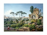 View of the Esquiline Hill, Rome, C.1800 Giclee Print by Louis-Francois Cassas