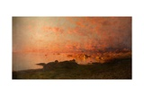 Midsummer Night, Lofoten, Norway Giclee Print by Adelsteen Normann