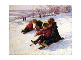 Sledging II Giclee Print by Paul Gribble