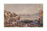 Posilippo Road, Naples, 1856 Giclee Print by Giacinto Gigante