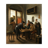 Tric Trac Players in an Interior Giclee Print by Jan Havicksz Steen