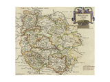 Map of Herfordshire Giclee Print by Robert Morden