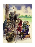 The Friars Come to Britain Giclee Print by Peter Jackson