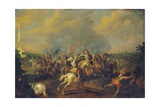 A Cavalry Skirmish Giclee Print by Palamedes Palamedesz