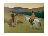 The Parley, 1903 Giclee Print by Frederic Sackrider Remington