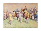 Hethersett Steeplechases, 1921 Giclee Print by John Atkinson