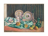 Still Life with Apples and Fruit Dishes, C.1906 Giclee Print by Emile Bernard