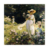 Among the Laurel Blossoms, 1914 Giclee Print by Charles Courtney Curran