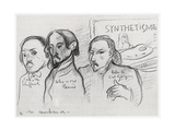 Portraits of Gauguin, Bernard and Schuffenecker Giclee Print by Emile Bernard