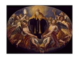St Benedict in Glory Giclee Print by Giuseppe Cesari