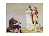 Merveilleuse and Incroyable with a Violinist Giclee Print by Louis Leopold Boilly