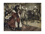 Preparing the King Giclee Print by Arthur Rackham