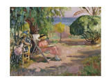 Women Sewing Giclee Print by Henri Lebasque