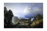 Passing of Storm, 1856 Giclee Print by Giuseppe Camino