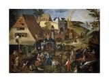 Flemish Proverbs, 1559 Giclee Print by Pieter Bruegel the Elder