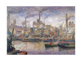 By the Thames, 1911-12 Giclee Print by Anders Svarstad