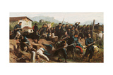 The Battle of Varese Giclee Print by Federico Faruffini