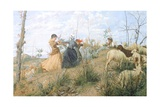 Ring-Around-The-Rosey, 1877 Giclee Print by Niccolo Cannicci