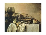 Still Life with Fish, 1647 Giclee Print by Pieter Claesz