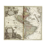 Map of the Americas, 1744 Giclee Print by Georg Matthäus Seutter