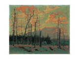 Burnt Land at Sunset, 1915 Giclee Print by Thomas John Thomson