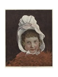 Sketch for a Portrait of a Child Giclee Print by Jules Joseph Lefebvre