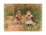 The Strawberry Patch Giclee Print by Hector Caffieri