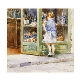 The Window-Shopping Girl Giclee Print by Vicenzo Irolli