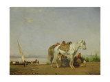 On the Bank of the Nile, 1871 Giclée-Druck von Eugene Fromentin