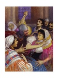 Massacre of the Sicilian Vespers Giclee Print by John Millar Watt