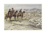 Soldiers on Horseback Surveying Nicopolis Giclee Print by Felicien Baron De Myrbach-rheinfeld