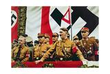 Hitler at a Nazi Rally in Dortmund, 1933 Giclee Print