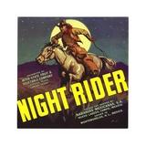 Night Rider Oranges Label Giclee Print