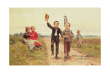 Country Celebrations, 1897 Giclee Print by Cesar Pattein